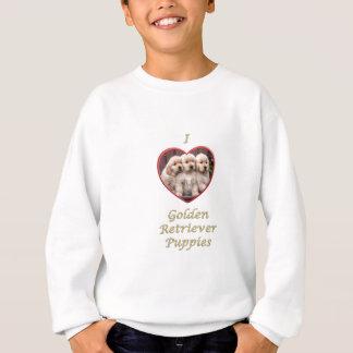 私はゴールデン・リトリーバーの子犬を愛します スウェットシャツ