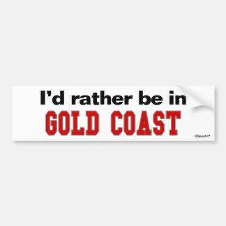 私はゴールド・コーストにむしろいます バンパーステッカー
