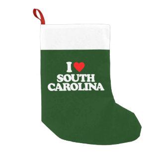 私はサウスカロライナを愛します スモールクリスマスストッキング