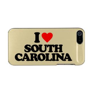 私はサウスカロライナを愛します メタリックiPhone SE/5/5sケース