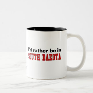 私はサウスダコタにむしろいます ツートーンマグカップ