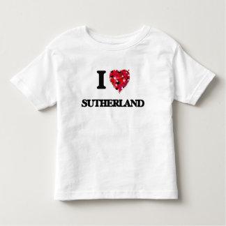 私はサザランドを愛します トドラーTシャツ