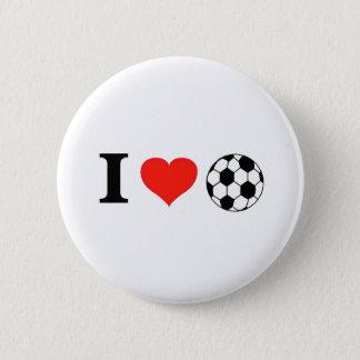 私はサッカーのハートを愛します 缶バッジ