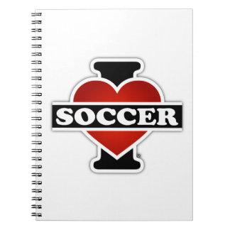 私はサッカーを愛します ノートブック