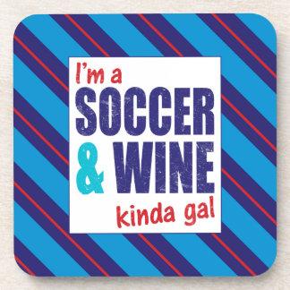私はサッカー及びワインちょっとGalのコースターです コースター