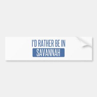 私はサバンナにむしろあります バンパーステッカー