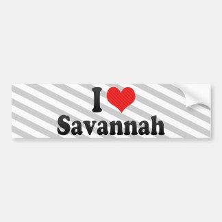 私はサバンナを愛します バンパーステッカー