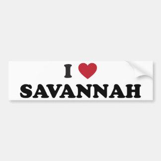 私はサバンナジョージアを愛します バンパーステッカー