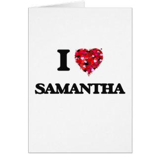 私はサマンサを愛します カード