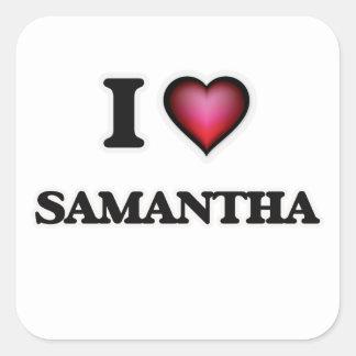 私はサマンサを愛します スクエアシール