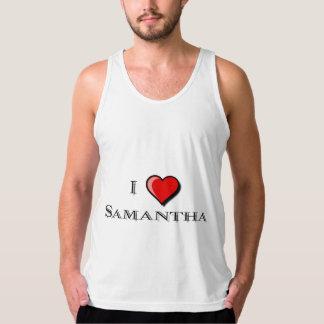 私はサマンサを愛します タンクトップ