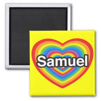 私はサミュエルを愛します。 私はサミュエル愛します。 ハート マグネット