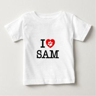 私はサムを愛します ベビーTシャツ