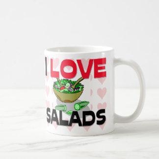 私はサラダを愛します コーヒーマグカップ