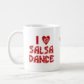 私はサルサのダンスのカスタムな踊りの恋人のコーヒーを愛します コーヒーマグカップ