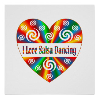 私はサルサの踊りを愛します プリント