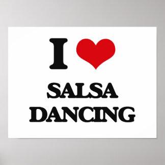 私はサルサの踊りを愛します ポスター