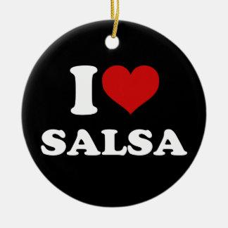 私はサルサを愛します セラミックオーナメント
