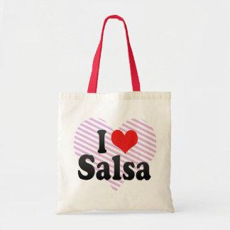 私はサルサを愛します トートバッグ
