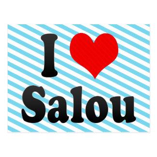 私はサルー、スペインを愛します。 私Encantaサルー、スペイン ポストカード