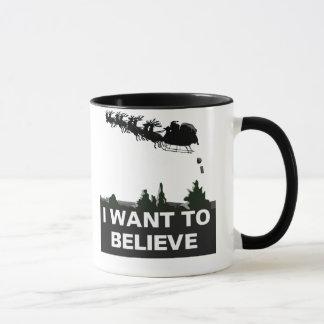私はサンタで信じたいと思います マグカップ