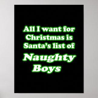 私はサンタのいけない男の子のリストがほしいと思います ポスター