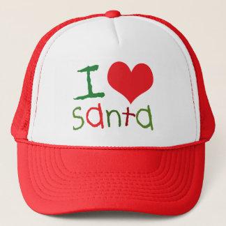 私はサンタのトラック運転手の帽子を愛します キャップ