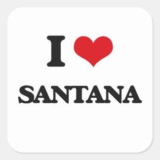 私はサンタナを愛します スクエアシール