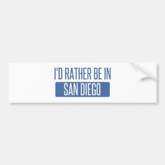 私はサンディエゴにむしろいます バンパーステッカー
