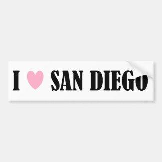 私はサンディエゴのバンパーステッカーを愛します バンパーステッカー