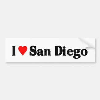 私はサンディエゴを愛します バンパーステッカー