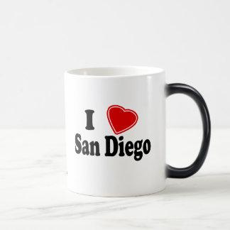私はサンディエゴを愛します マジックマグカップ