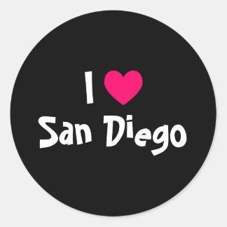 私はサンディエゴを愛します ラウンドシール
