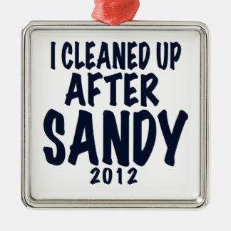 私はサンディ2012年のハリケーンサンディの後できれいになりました メタルオーナメント