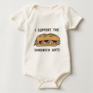私はサンドイッチ芸術を支えます ベビーボディスーツ