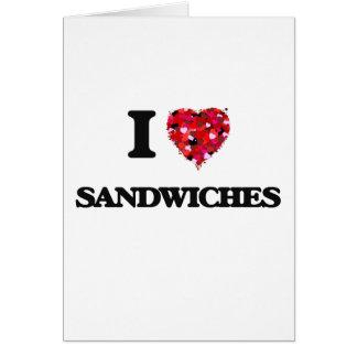 私はサンドイッチ食糧デザインを愛します カード