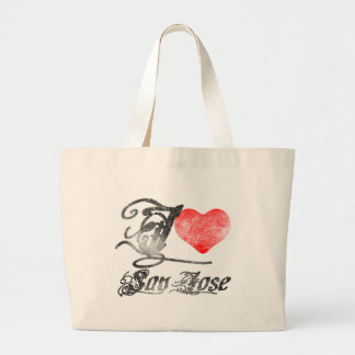 私はサンノゼを愛します ラージトートバッグ