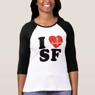 私はサンフランシスコ橋ハートを愛します Tシャツ