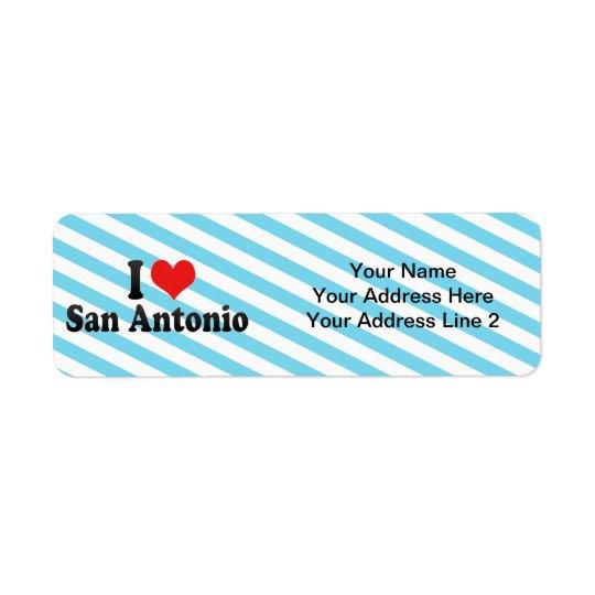 私はサン・アントニオを愛します 返信用宛名ラベル