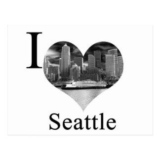 私はシアトルを愛します ポストカード