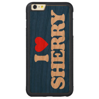 私はシェリー酒を愛します CarvedチェリーiPhone 6 PLUSバンパーケース