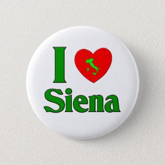 私はシエナイタリアを愛します 5.7CM 丸型バッジ