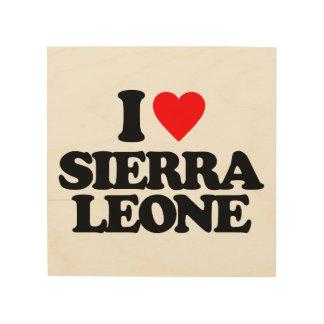 私はシエラレオネを愛します ウッドウォールアート