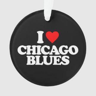 私はシカゴの青を愛します オーナメント