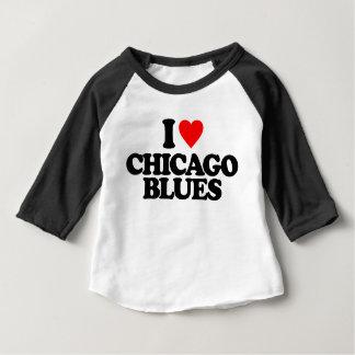 私はシカゴの青を愛します ベビーTシャツ