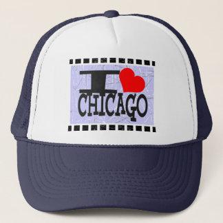 私はシカゴ-    帽子--を愛します キャップ