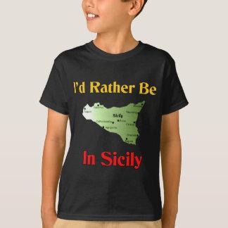私はシシリーにむしろいます Tシャツ