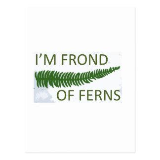 「私はシダの葉状体」のシダの葉のデザインです ポストカード