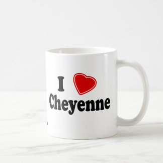 私はシャイエンヌを愛します コーヒーマグカップ