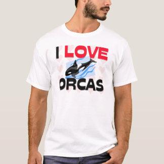 私はシャチを愛します Tシャツ
